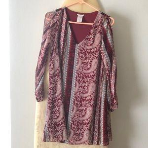 Beautiful paisley print boho dress